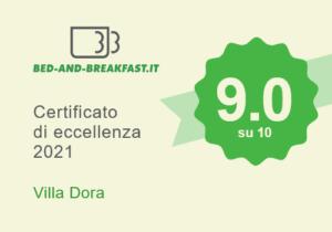certificato di eccellenza 2021 b&b